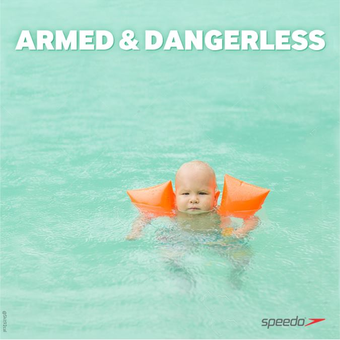 Armed and Dangerless Speedo ad