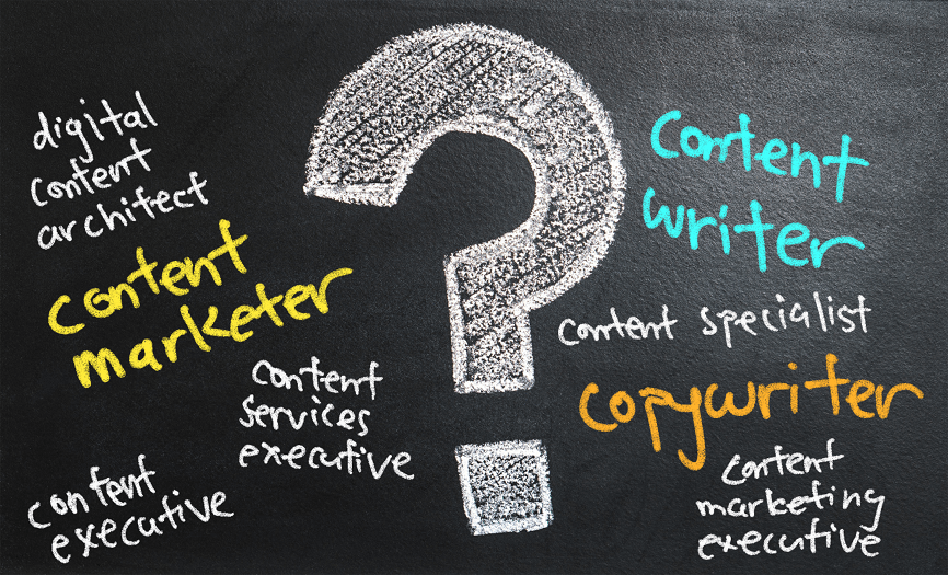 Different kinds of content marketing job titles