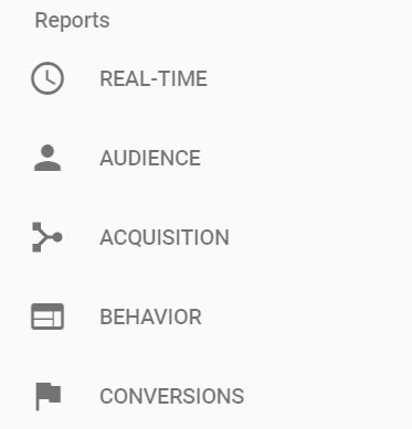 5 main Google Analytics reports