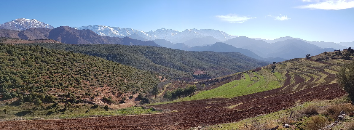 The beautiful Atlas Mountains of Morocco