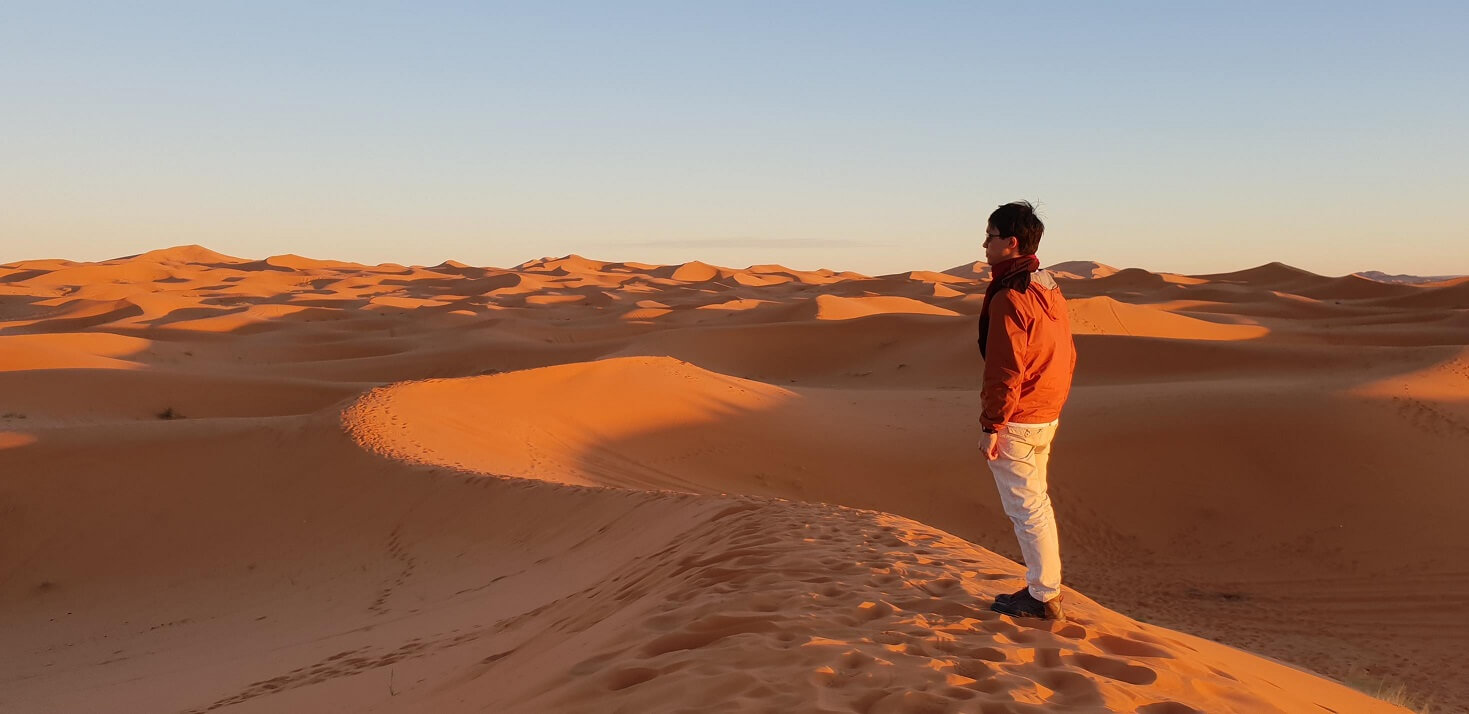 My bro admiring the Sahara desert