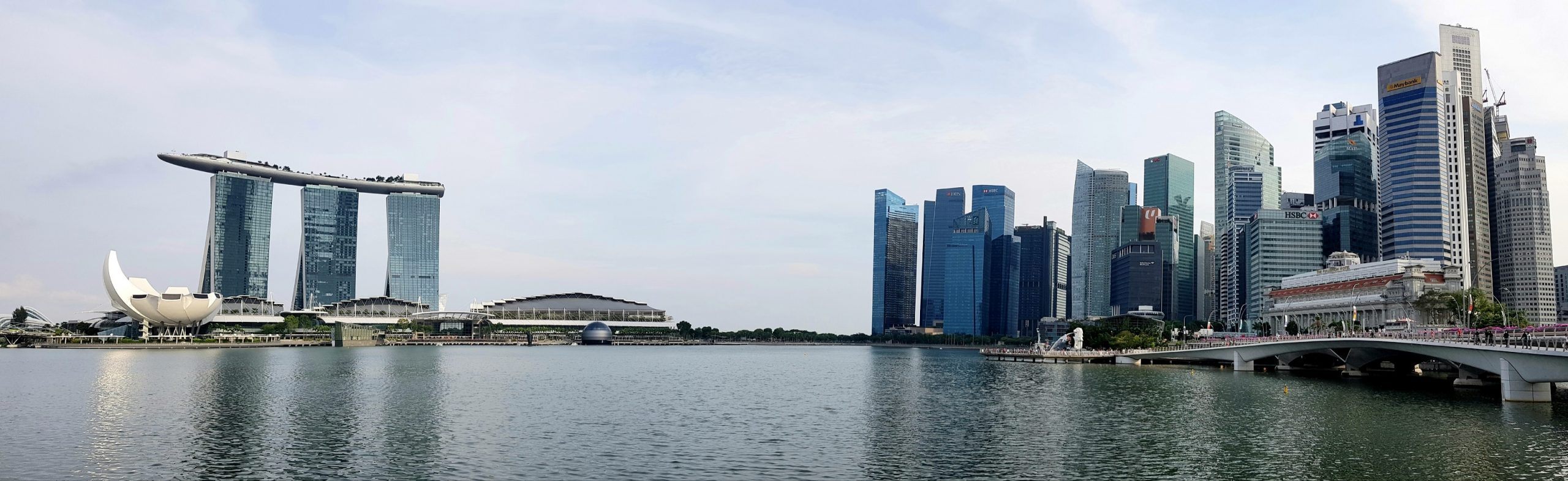 The Singapore skyline as seen from The Esplanade